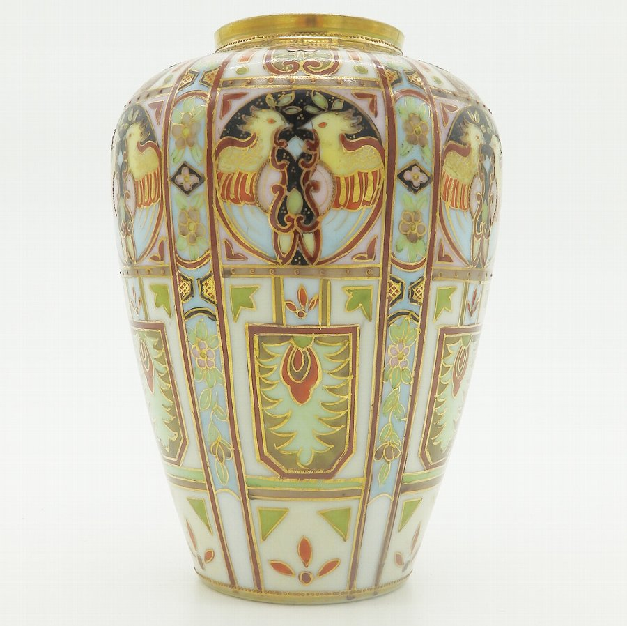 Antique Liberty & Co : A wonderful Nippon Art Deco hand painted Vase 2 - C.1920