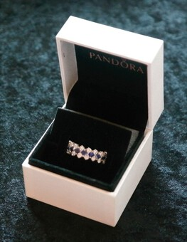 Antique 18ct White Gold DIAMOND and SAPPHIRE Multi stone Engagement - Eternity Ring- Ideal Gift / Present
