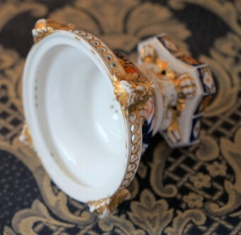 Antique Circa:- 1820s Royal Crown Derby Floral Hand Painted Incense Burner - Rare Collectible / See our other R C D Items