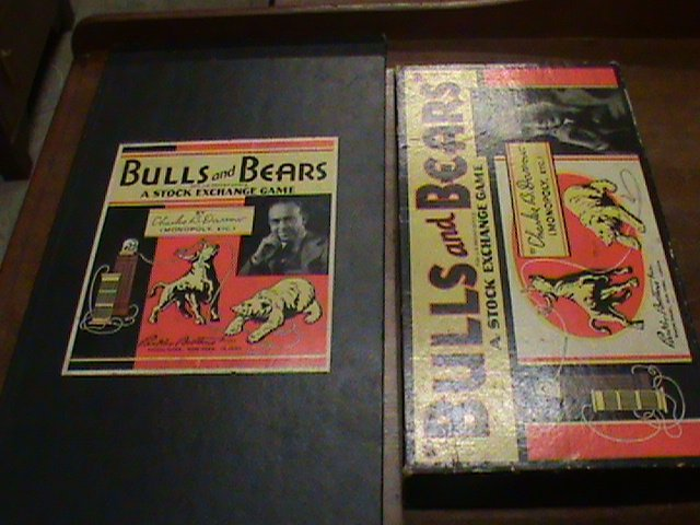 Bulls and Bears, board game 1930's