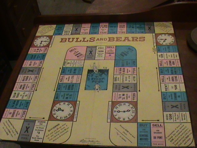 Antique Bulls and Bears, board game 1930's