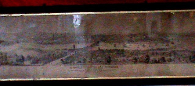 Antique London, Westminster and Southwark panoramic map, circa 1900