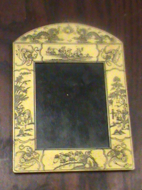Chinese scrimshaw bone picture frame