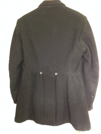 Antique Vintage Black Hunt Coat with pre merger Badsworth Hunt buttons