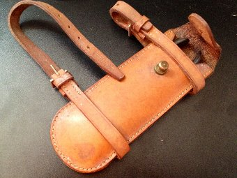 Antique Vintage Huntsmans Leather Saddle fitting Wirecutter Case
