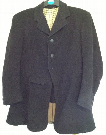 Antique Vintage Black 38 inch Hunt Coat with rare Oxford University Drag Hunt buttons