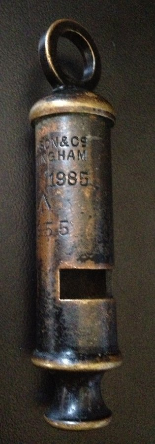 Antique Vintage J.Hudson & Co , Birmingham British Army Whistle Dated 1955