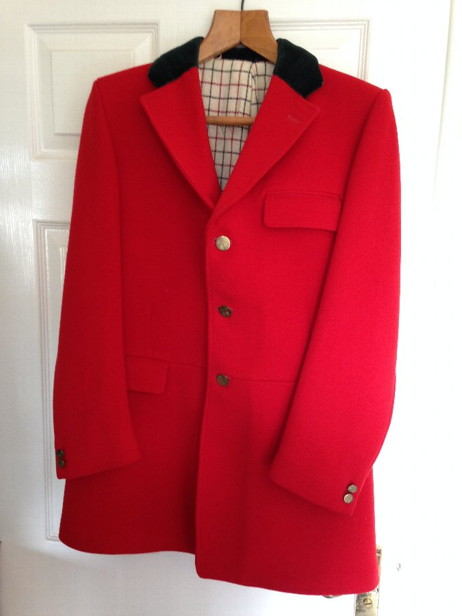 Vintage Hunting Pink Coat with pre merger Badsworth Hunt buttons