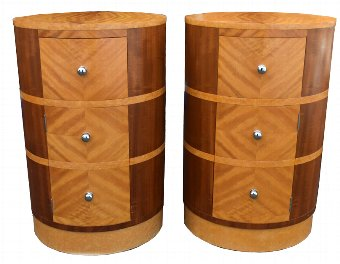 Antique Matching Pair Of Art Deco Bedside Cabinets , Circa 1930