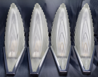 Antique 1930's Art Deco Wall Lights - Set Of Four