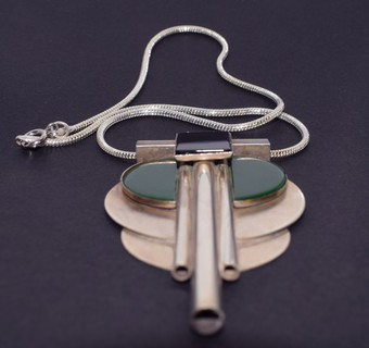 Antique Art Deco Modernist Galalith Necklace, Circa 1930's