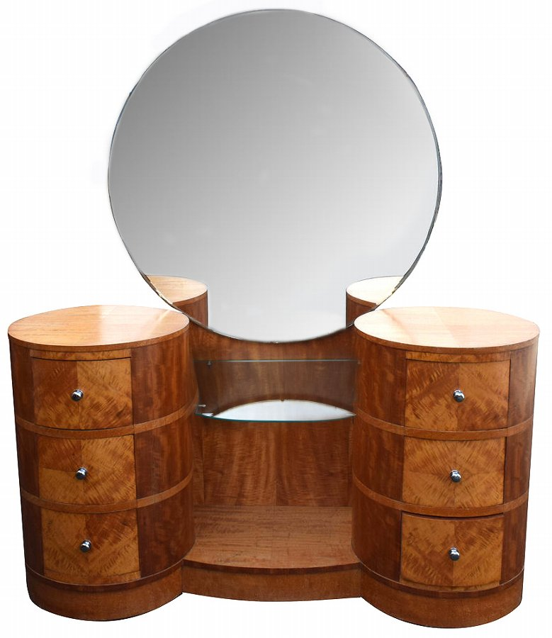 Art Deco Walnut Dressing Table, Circa 1930
