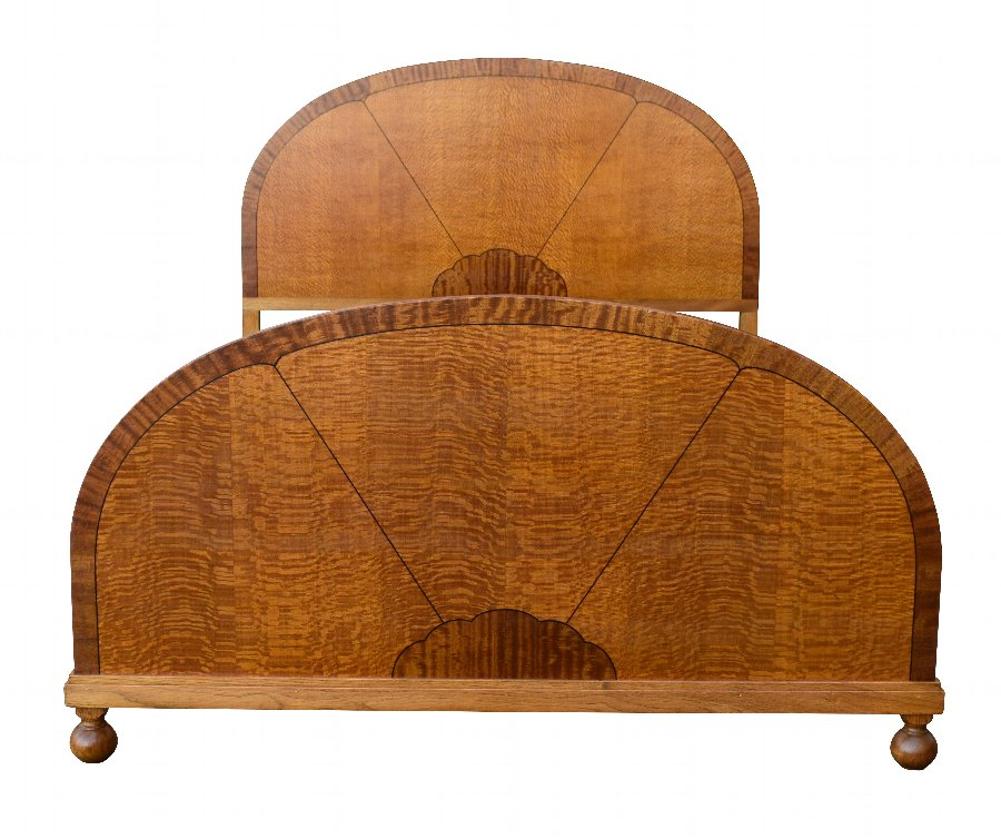 Beautiful 'Sunray' 1930's Art Deco Double Bed