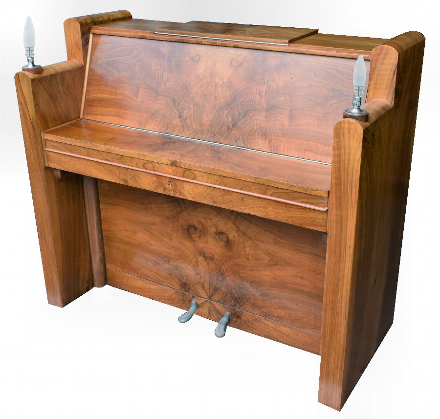 1930's Upright Art Deco Piano By Berry Of London