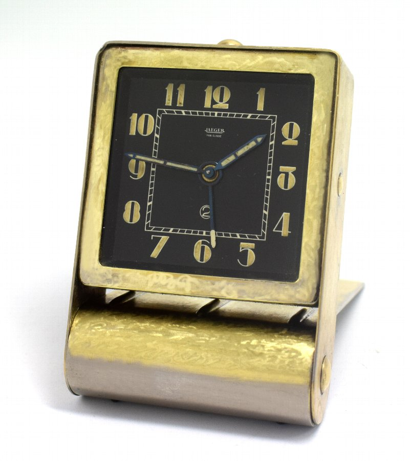Rare Art Deco Clock by Jaeger-LeCoultre