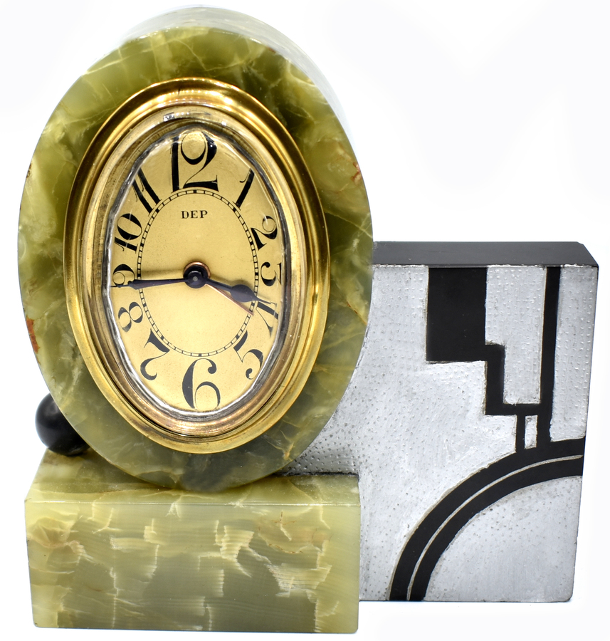 Rare Art Deco Modernist Alarm Clock by Dep, Circa 1930