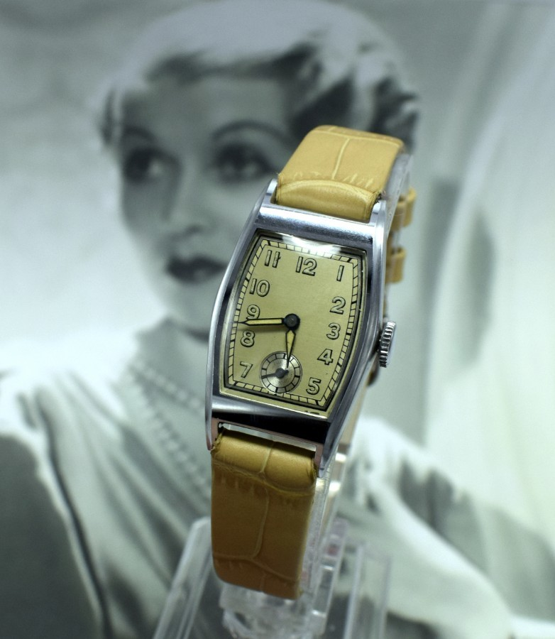 Art Deco Ladies Wristwatch Old Stock, Never Worn, Newly Serviced, 1930