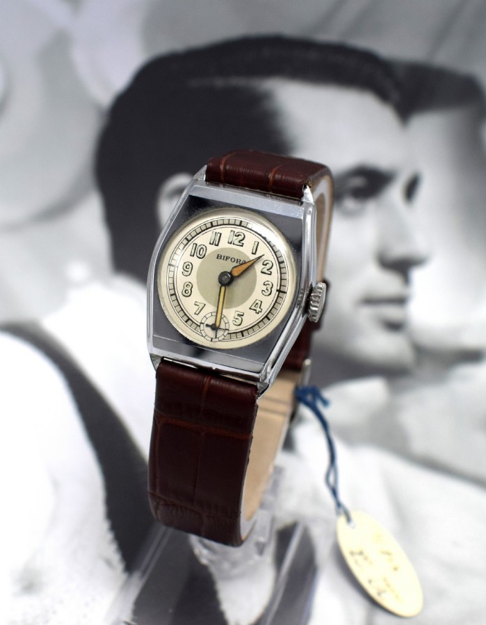 Art Deco Gents Wristwatch Old Stock, Never Worn, Newly Serviced, 1930