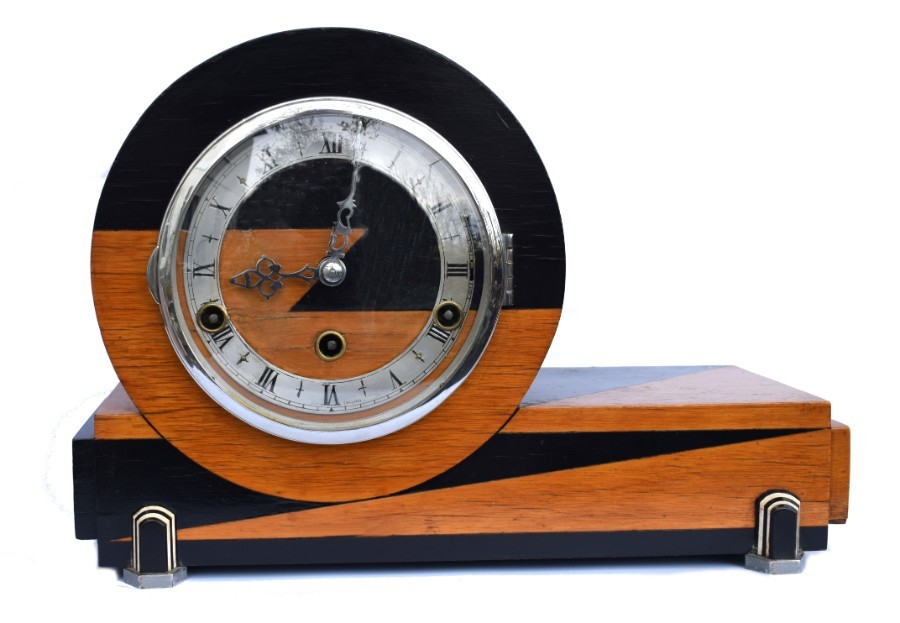 Art Deco Westminster Chime Mantle Clock By Norland