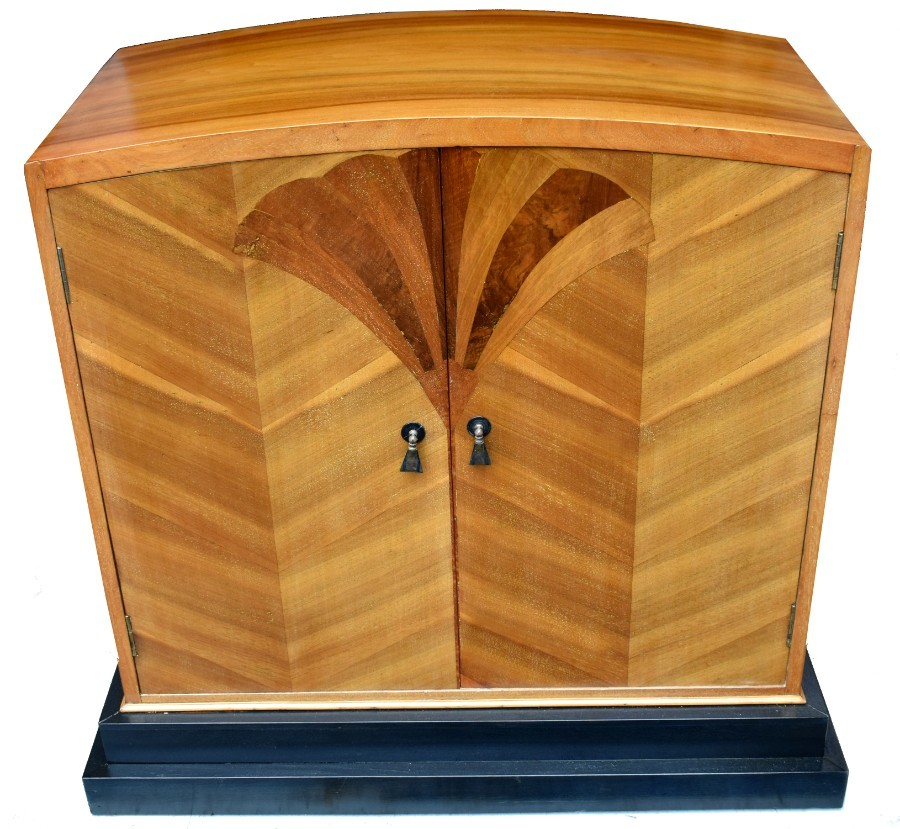 Art Deco Walnut Linen Cupboard