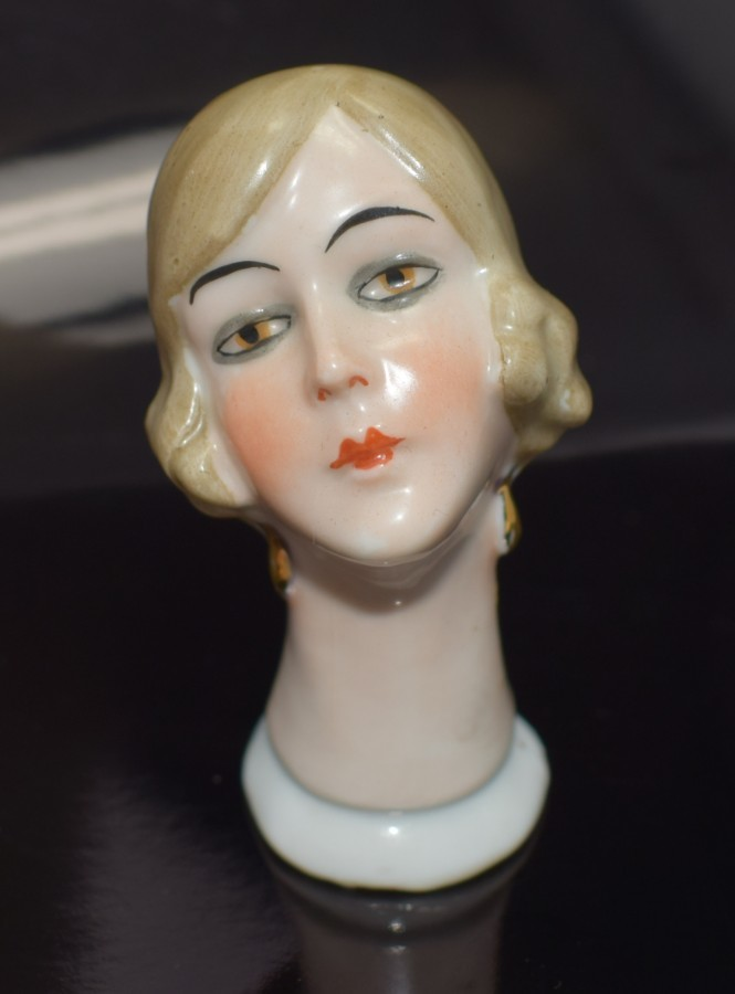 Antique Art Deco Pin Cushion Doll By Fasold & Stuach.