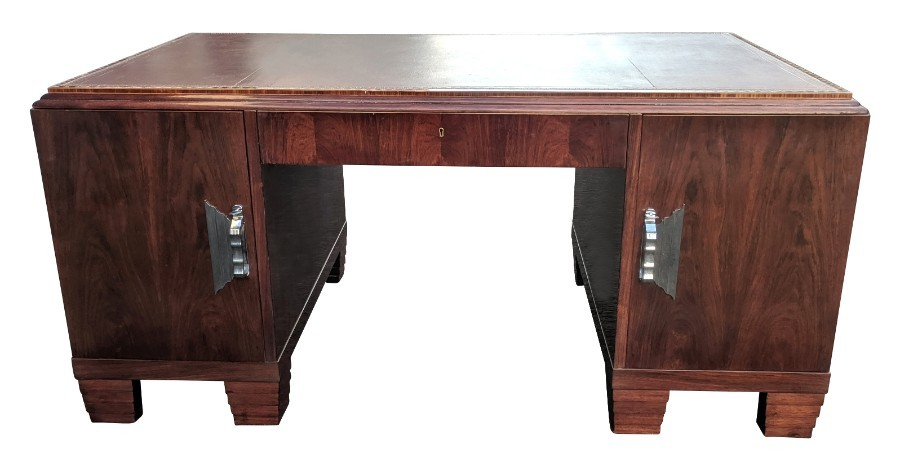 Art Deco Modernist Partners Desk, Circa 1930