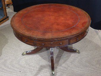 Antique drum table