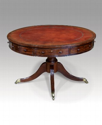 Antique Antique drum table
