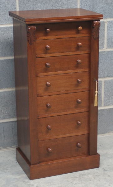 Antique Antique Mahogany Wellington Chest