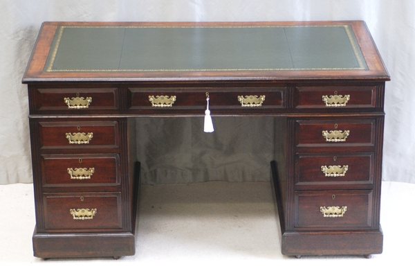 Antique Mahogany Pedestal Desk