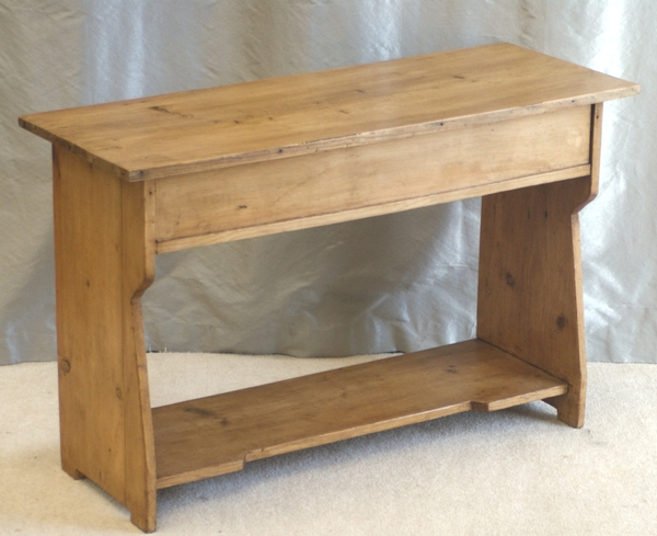 Antique Pine Bench with Slipper Box