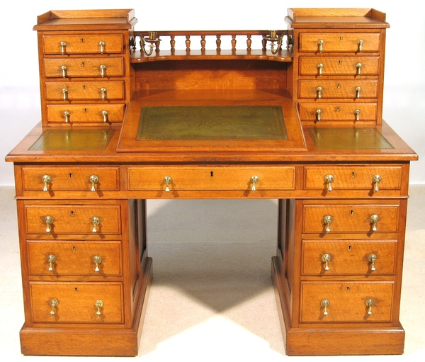 Superb Original Oak Dickens Desk