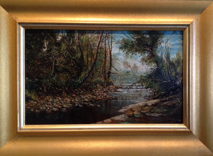 ON SALE: Hypnotic Landscape of a River Brook, 1850-1900