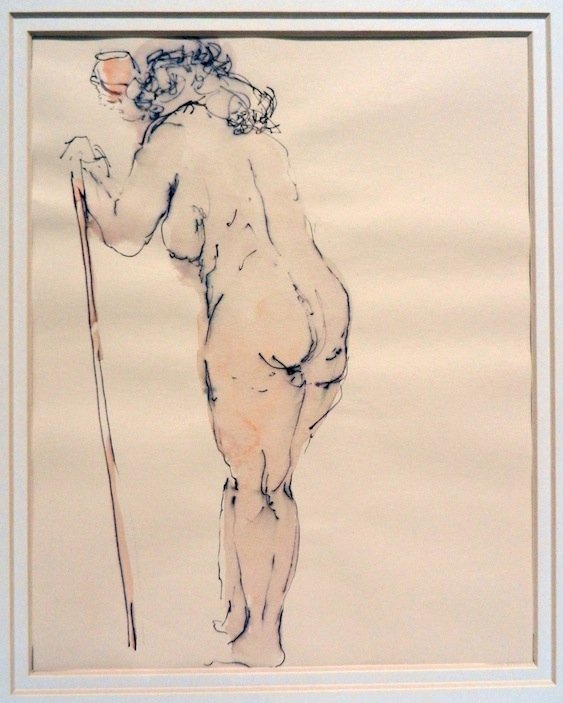 Antique Two (2) Ink & Wash Nudes, SCHOOL OF RAPHAEL SOYER
