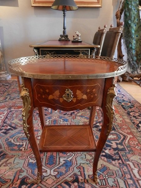 Inlaid Occasional table, Louis XV style