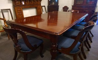 Antique 10 seat Mahogany dining table, Restored and with good colour and finish