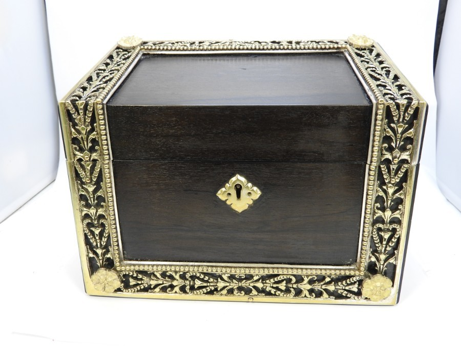 A Victorian Coromandel stationary box, desk tidy, maker HOWELL, JAMES & Co from Regent street in ...