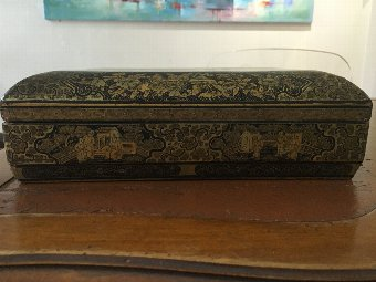 Antique 18th century Chinese lacquer game box