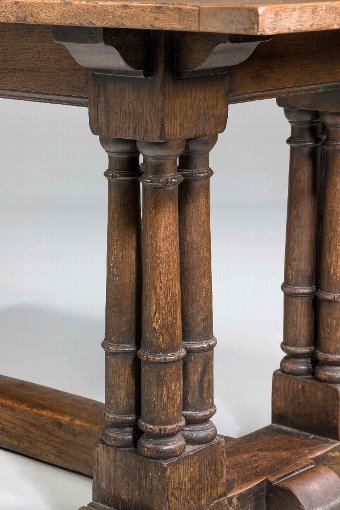 Antique 19th Century Oak Refectory Table