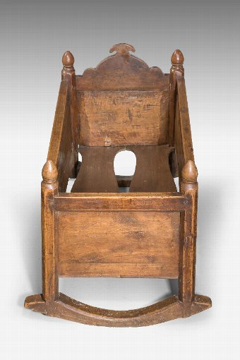 Antique 19th Century Continental Chestnut Cradle