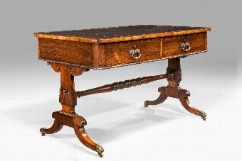 Antique Regency Period Rosewood Library Table.