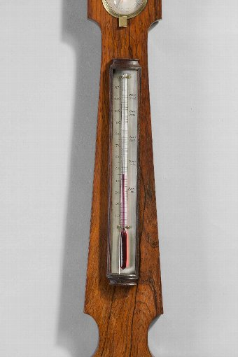 Antique Regency Period Rosewood 5 ins Dial Barometer by Francis Amadio