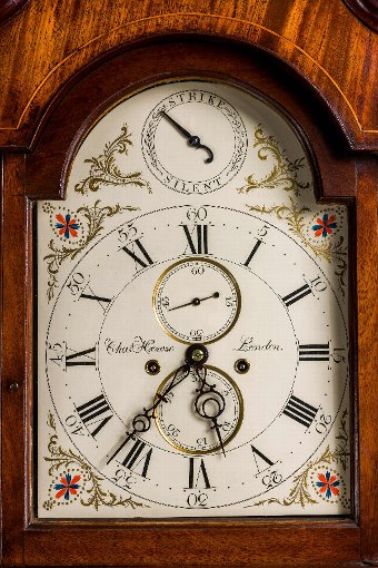 Antique 18th Century Mahogany Longcase Clock by Chas Howe of London