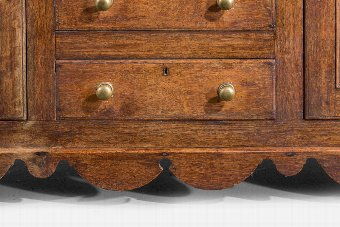 Antique 19th Century Oak Dresser and Rack