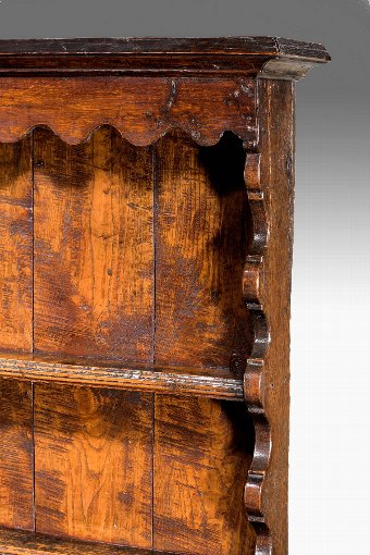Antique Mid-18th Century Oak Dresser And Rack