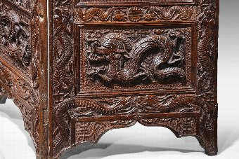 Antique 19th Century Carved Eastern Screen