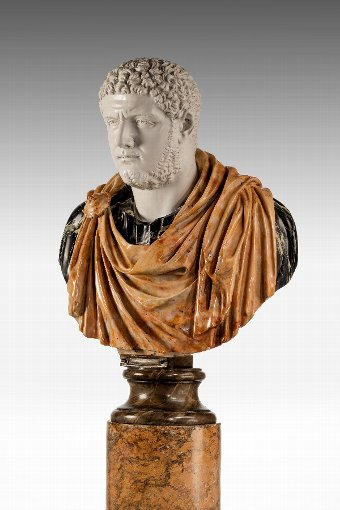 Antique Bust of a Roman Emperor Caracalla