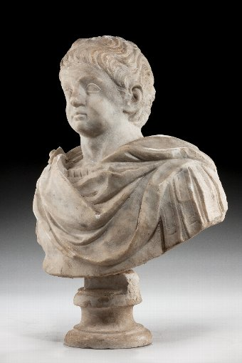 Antique 17th Century Marble Head of a Boy