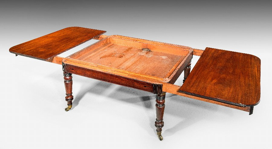 Antique Regency Period Mahogany Dining Table