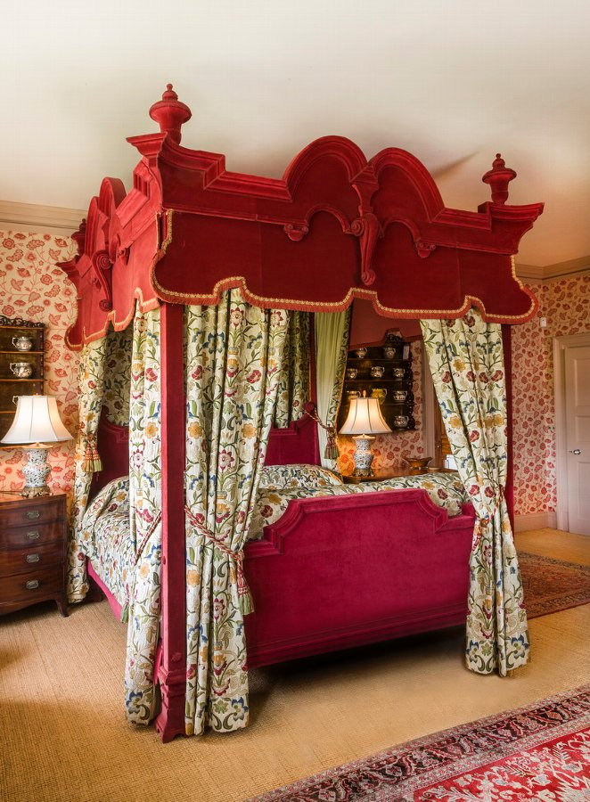 Antique 17th Century Style Four Poster Bed.